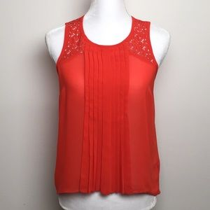 Nicole by Nicole Miller Lace Trim Tank Shell